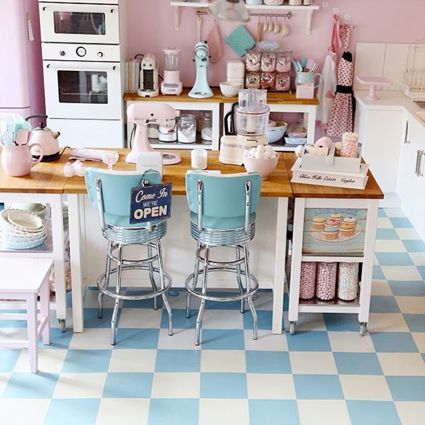 Retro Kitchen diner and diner floor